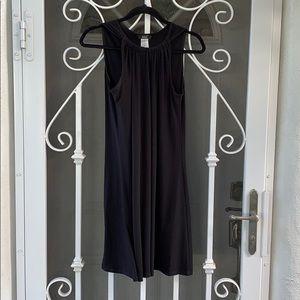 {MSK} Sz M Sleeveless Black Shift Dress